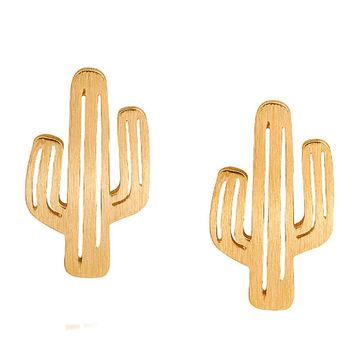Cute Cactus Stud Earrings