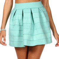 Sale-rubber Band Skater Skirt