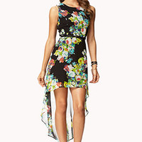 Floral Print High-Low Dress   FOREVER 21 - 2072274204