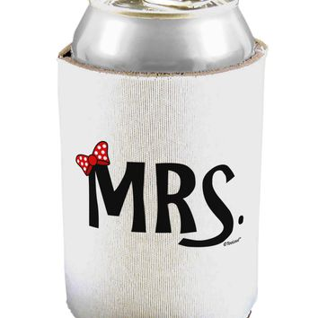 Matching Mr and Mrs Design - Mrs Bow Can / Bottle Insulator Coolers by TooLoud