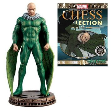 Marvel Amazing Spider-Man Vulture Black Pawn Chess Piece with Magazine #94