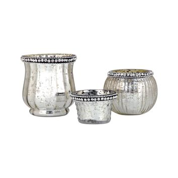 Sterlyn Set of 3 Votives Antique Silver