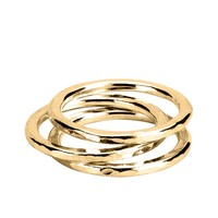 Adina by Adina Reyter Circle Stackable Rings set of 3