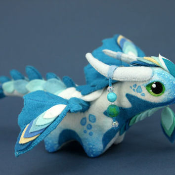 Soft toy dragon MADE TO ORDER fantasy plush animal textile toys Soft sculpture children, fabric toy, handmade, favorite toy