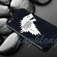Stark Game of Thrones Cover - iPhone 4 4S iPhone 5 5S 5C and Samsung Galaxy S3 S4 Case