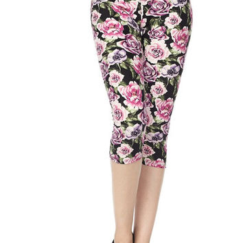 A Rose By Any Other Name Capri Leggings - Regular & Plus Size!