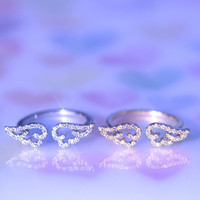 Angel Wing ring / in gold,silver (2 color)