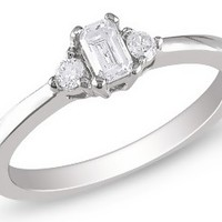 1/3 Carat Diamond 14K White Gold Engagement Ring 7500706760