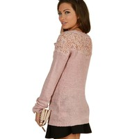 Sale-peach Cozy Up Sweater