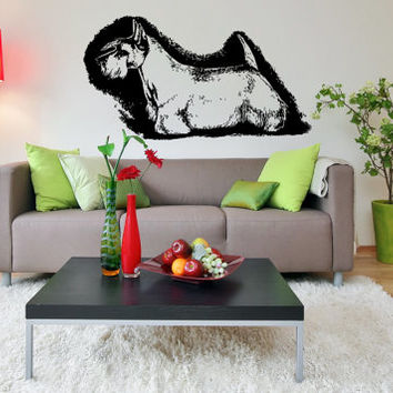 Scottish Terrier (Scottie) Dog Puppy Breed Pet Animal Family Wall Sticker Decal Mural 2887