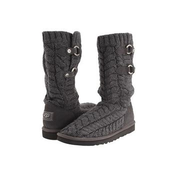 Ugg Boots Sale Knit Tularosa Route Cable 3177 Charcoal For Women 96 86