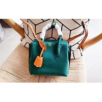 MCM fashionable lady simple and pure color shopping bag hot selling shoulder bag Dark green