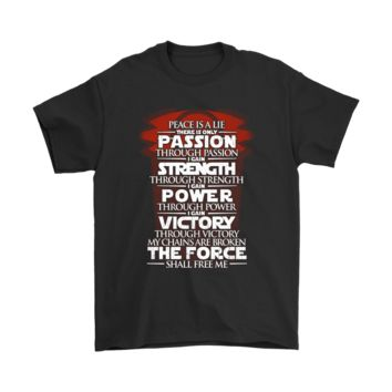 QIYIF Peace Is A Lie There Is Only Passion Code Of The Sith Shirts