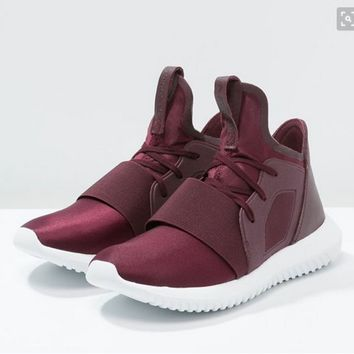 """Adidas"" Tubular Defiant Wine Red Leisure Running Sports Shoes"