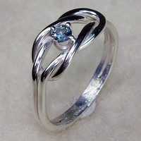 Double Love Knot Ring Argentium Silver with by AviationJewelry