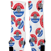Harambe For President Custom Nike Elite Socks