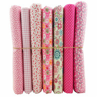 50x50cm 7 Prints Assorted Pink Collection Cotton Sewing Fabric