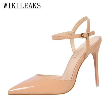 designer red high heels bigtree shoes women wedding shoes mary jane pumps escarpins femme ladies luxury brand sexy sandals women