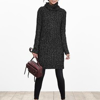 Banana Republic Womens Heritage Cable Knit Sweater Dress