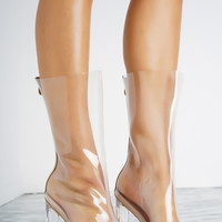 Perla Perspex Ankle Boots