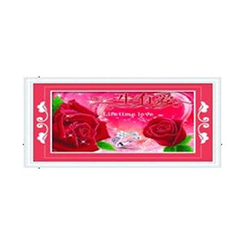 3D Diamond Stitch Love Lifelong Rose  Red Forever True Love Diamond Painting Cross Stitch