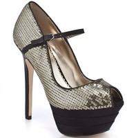 Bebe Shoes James - Gold and Black