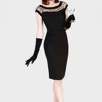 Tatyana Alika Black Pencil dress at Campbell/Crafts Vintage