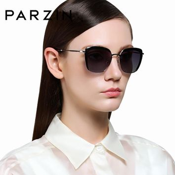 PARZIN Elegant Women Sunglasses Vintage Steampunk Sun Glasses With Original Box 9521 Colorful Summer Driving Accessories 2018