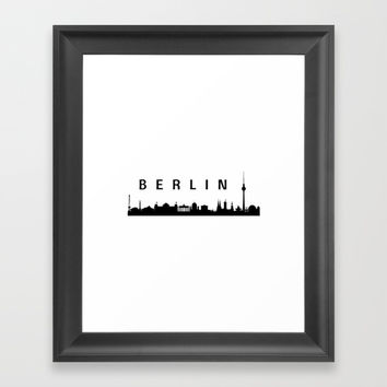 Berlin Skyline Framed Art Print by Love from Sophie