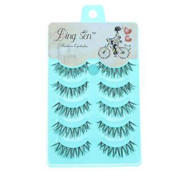 5 Pairs New Women Lady Natural Soft Black Fake Eye Lashes Handmade Thick Fake False Eyelashes Makeup Extension Tools