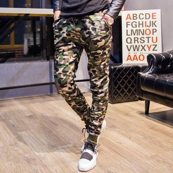 Men Casual Fashion Camouflage Pants Sportswear [6541431875]