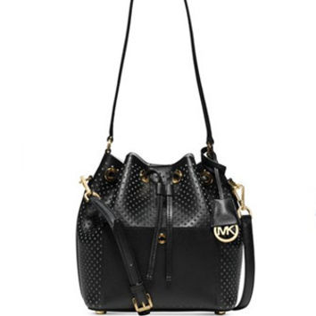 Michael Michael Kors Perforated Greenwich Medium Bucket Bag