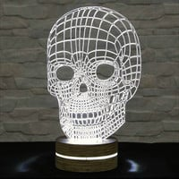 Skull Shape, 3D LED Lamp, Acrylic Lamp, Amazing Effect, Art of Light, Home Decor, Artistic Lamp, Night Light, Table Light, Office Decor