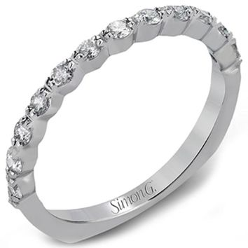 "Simon G. ""Modern Classic"" Diamond Wedding Ring"