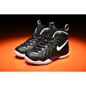 Beauty Ticks Kids Nike Air Foamposite Pro Black gold Sneaker Sho b2cb87d390