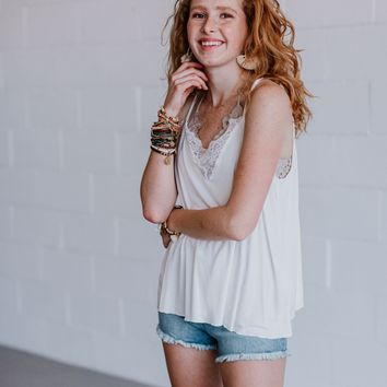 Indy Camisole Tank - Ivory