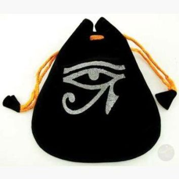 Eye of Horus Velveteen Bag