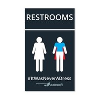 #itwasneveradress Womens Bathroom Wall Decal> #ItWasNeverADress Accessories> ItWasNeverADress Store
