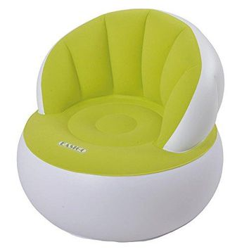 By PoolCentral 33.5 Lime Green and White Decorative Indoor Inflatable Adult Armchair