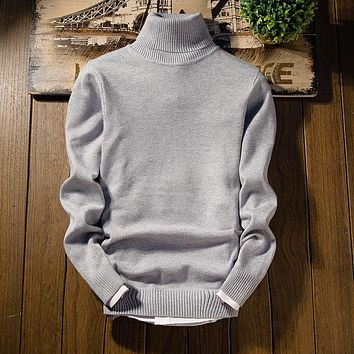 Cashmere Sweater Men 2017 New Arrival Men's Christmas Sweater Long Sleeve Slim Fit Turtleneck Pullover Men