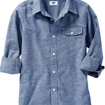 Old Navy Boys Textured Chambray Shirts Size XS - Daily blues