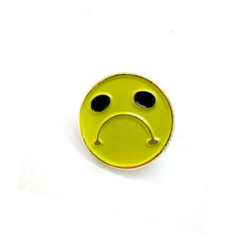 Enamel Pin Sad Face