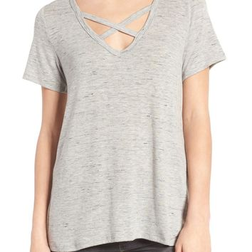 Socialite Strap Front Tee | Nordstrom