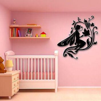 Wall Stickers Vinyl Decal Fairytale Fairy for Kids Children's Room Unique Gift (ig716)