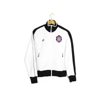 NIKE n98 track jacket - mister cartoon - usa - white & black - soccer - deadstock - new - nwt - womens medium
