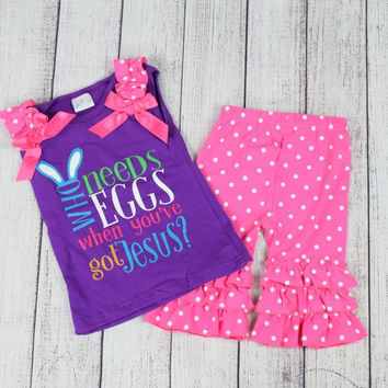 """Who Needs Eggs"" Easter Outfit"
