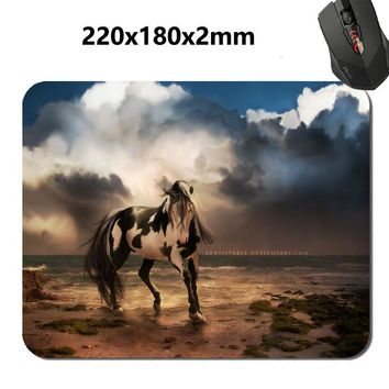 Mairuige Custom Rectangle Mousepad The Painted Pony Mouse Pad  Oblong Desktop Mousepad Rectangle Non-Slip Gaming Mouse Pads 9...