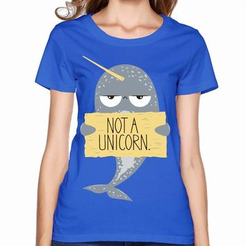 Narwhal Not A Unicorn Blue T-Shirt