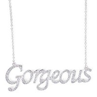 Short Necklace with Script Gorgeous Pendant