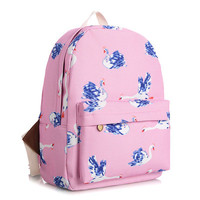 Korean Lovely Cute Canvas Backpack = 4887610500